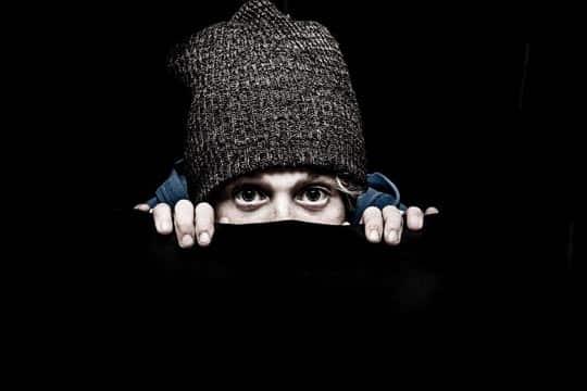 Person hiding